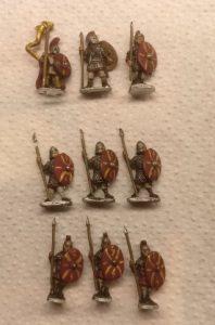 """So hat der Dominik die Blade Fast / Bd (F) für meine DBMM-Armee der """"Middle Imperial Roman - 193 AD - 324 AD"""" vorbereitet."""