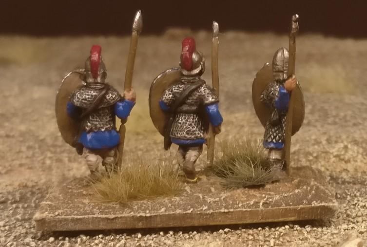 "Die Base #1 ""Blade Fast / Bd (F) meiner DBMM-Armee ""Middle Imperial Roman - 193 AD - 324 AD""."