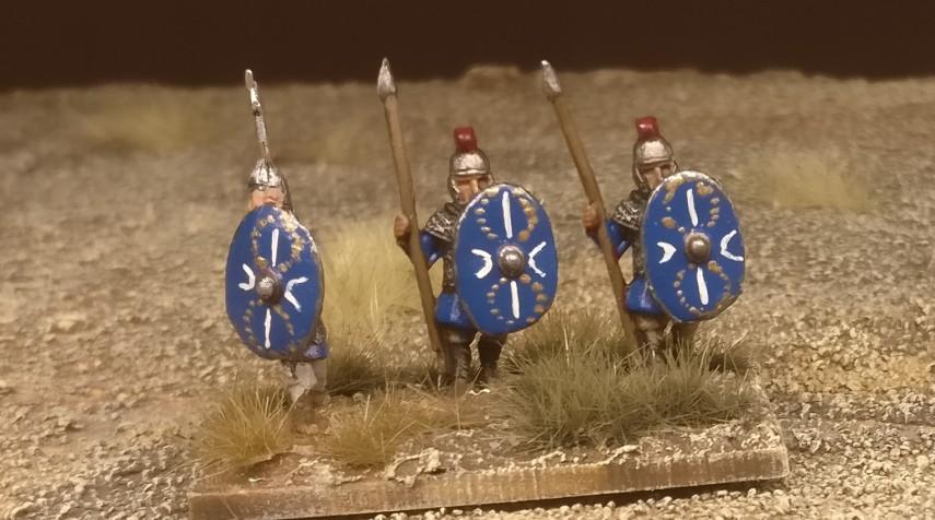 "Die Base #2 ""Blade Fast / Bd (F) meiner DBMM-Armee ""Middle Imperial Roman - 193 AD - 324 AD""."