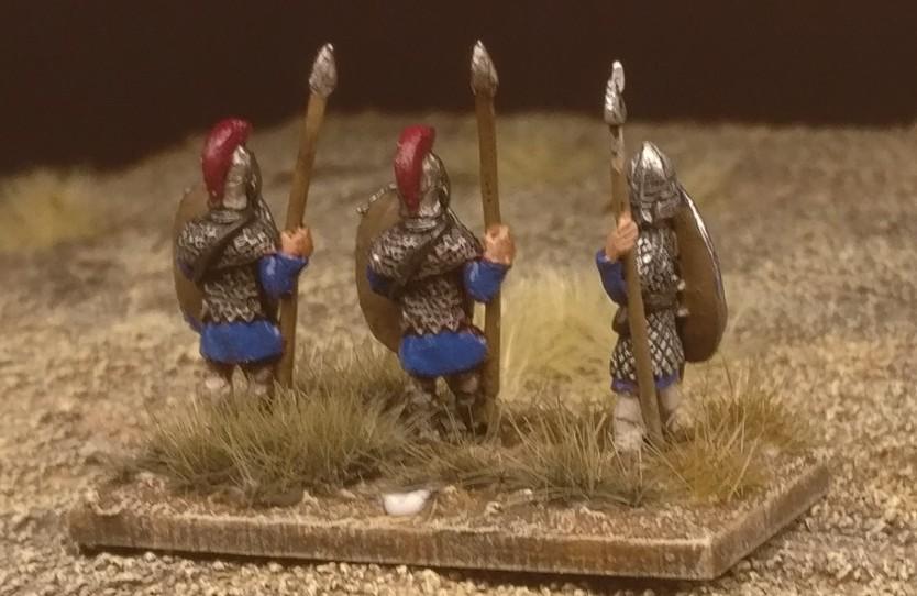 "Die Base #2 ""Blade Fast / Bd(F) meiner DBMM-Armee ""Middle Imperial Roman - 193 AD - 324 AD""."