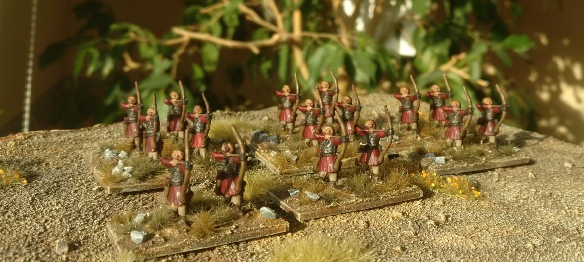 Die gesamte Truppe der Ps(O)/ Ordinary Psiloi / Plänkler für die DBMM-Armee