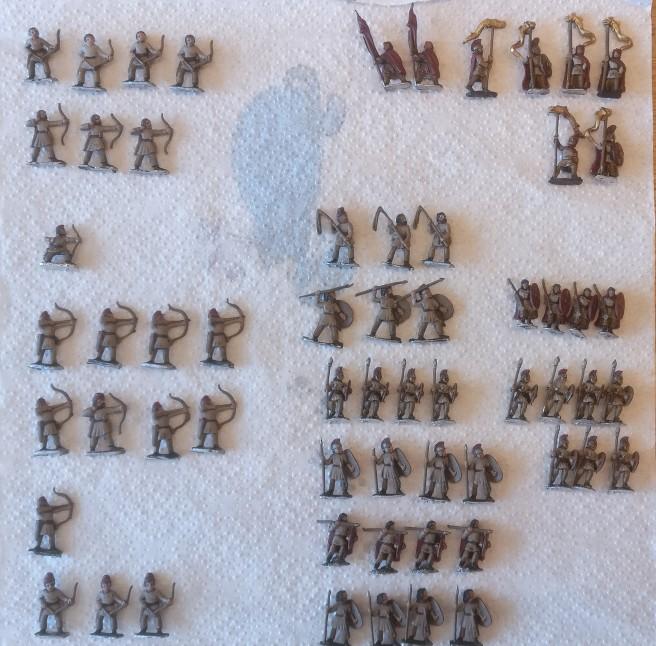 Tafel 01: reichlich Fußvolk für die DBMM-Armee des Gaius Neratius Commotus