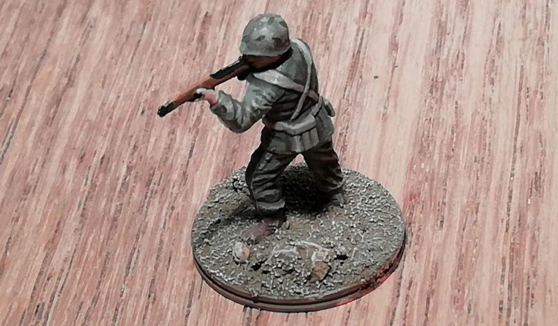 Die erste fertige Fiur des 101st Infantry Regiment der 26th Infantry Division ist dieser Rifle Schütze
