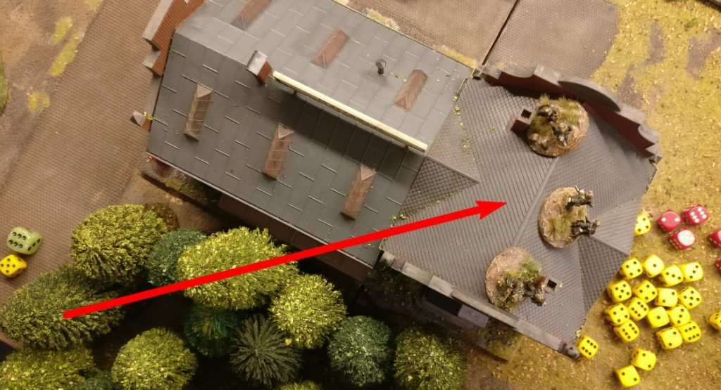 Mit den beiden verbliebenen APs spurten die Panzergrenadiere in das Square und besetzen es.