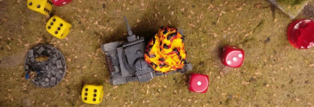 Der Flammpanzer III ist vernichtet.