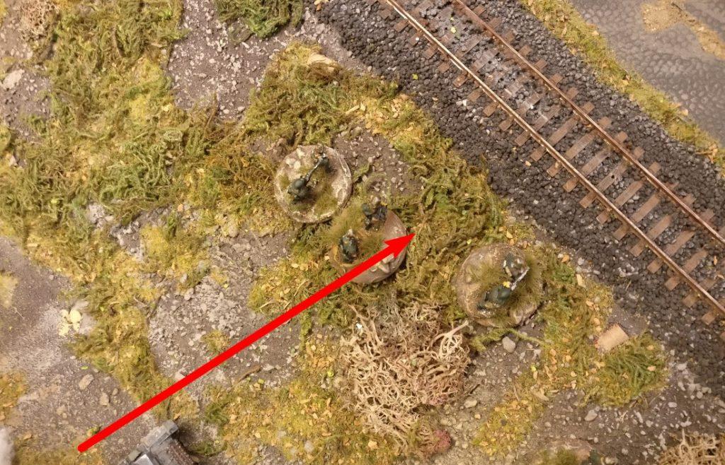 4 APs genügen zum Vorstoß zum Bahndamm.