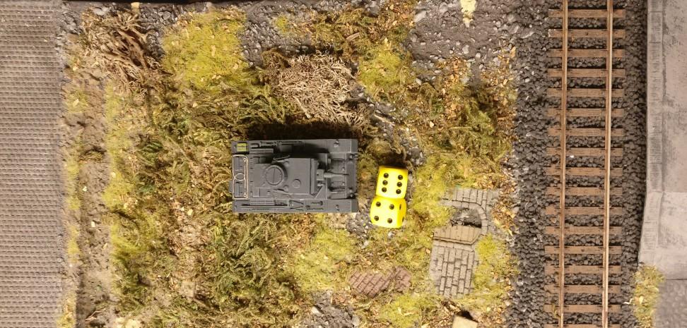 Auf dem linken Flügel legt der Panzer III 10 APs vor.