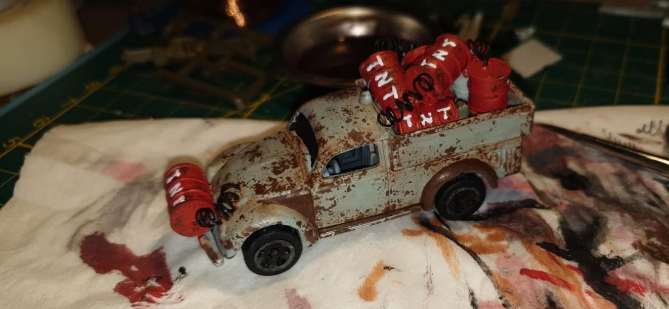 Maxens erstes Ergebnis: Käfer Herbie wäre stolz auf seinen Verwandten. Solche Gaslands Cars könnten auch dem Sturmi für die Vitrine gut gefallen!