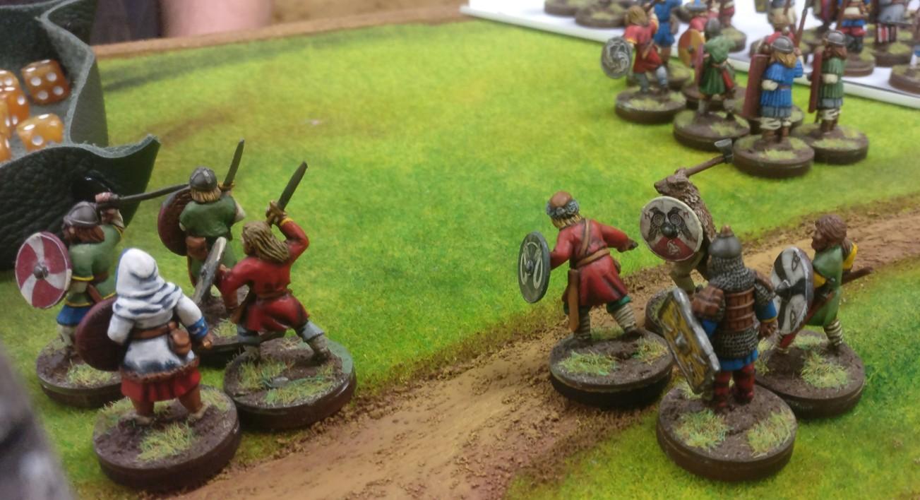 Halvarson hatte seine Armeen mitgebracht und stellt mir großzügigerweise eine solche für das SAGA-Spiel zur Verfügung.