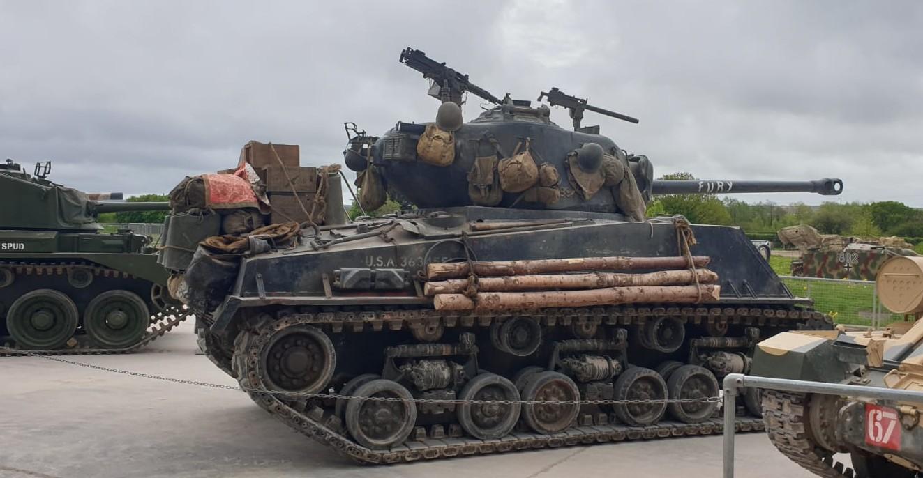 "Der M4A3E8 Easy Eight - das Hollywood ""Fury"" Gefährt im The Tank Museum Bovington am Tankfest 2019."