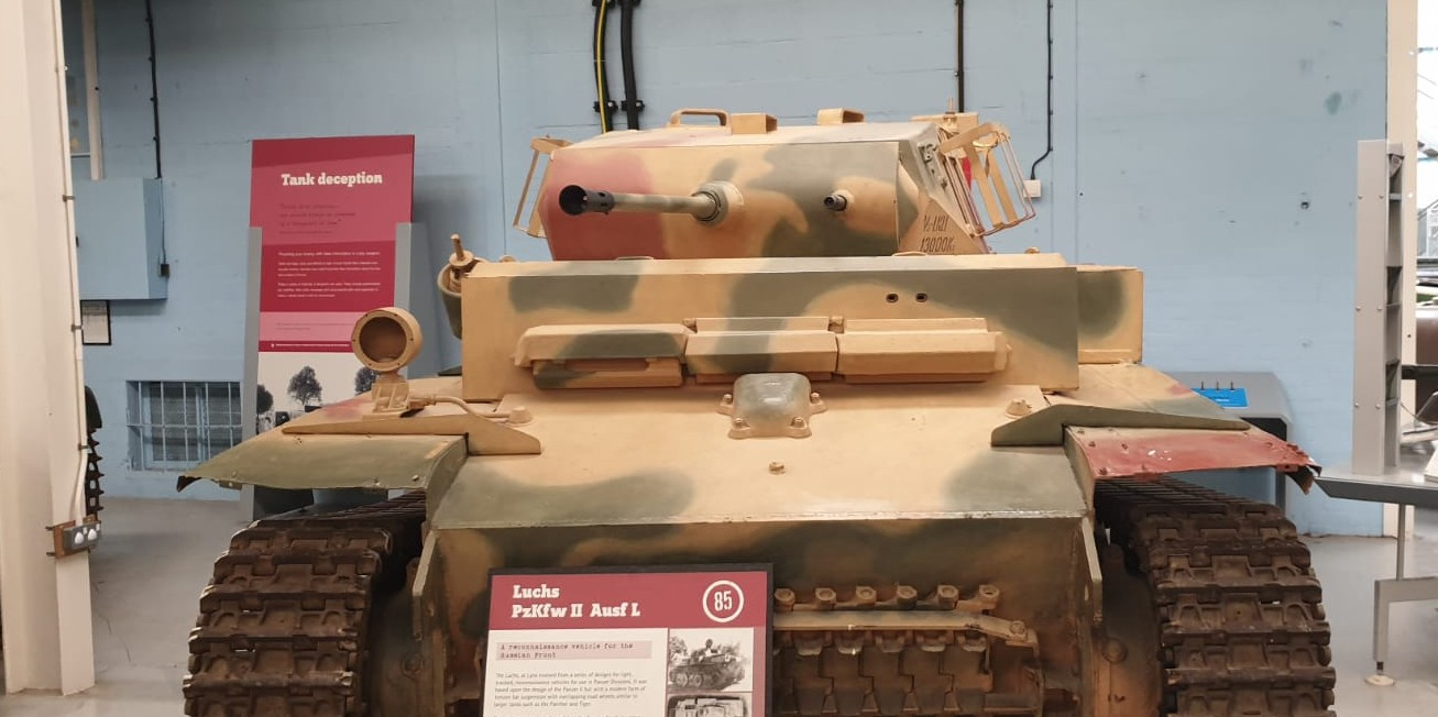 "Der Panzerkampfewagen II Ausf. L ""Luchs"". Florians Lieblingspanzer. Er hat ihn endlich mal live erlebt.  The Tank Museum Bovington am Tankfest 2019."