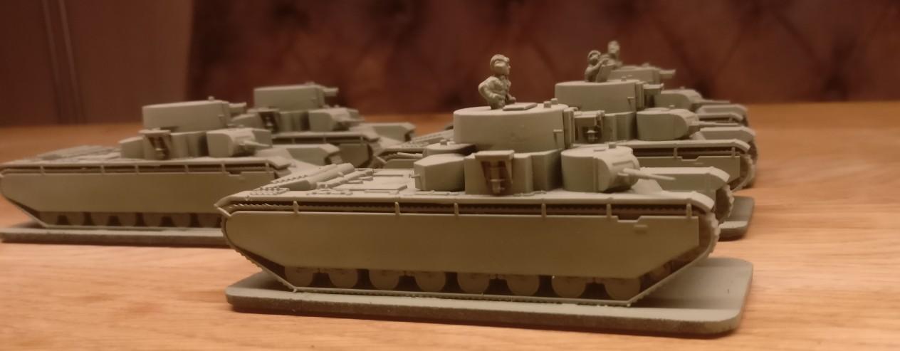 Kein Dutzend, aber satte fünf Zvezda 6203 T-35 Schwerer Sowjetischer Kampfpanzer / Soviet Heavy Tank