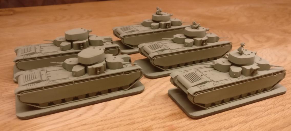 Schlachtschiffe für die rote 15mm Sturmi Army: Zvezda 6203 T-35 Schwerer Sowjetischer Kampfpanzer / Soviet Heavy Tank