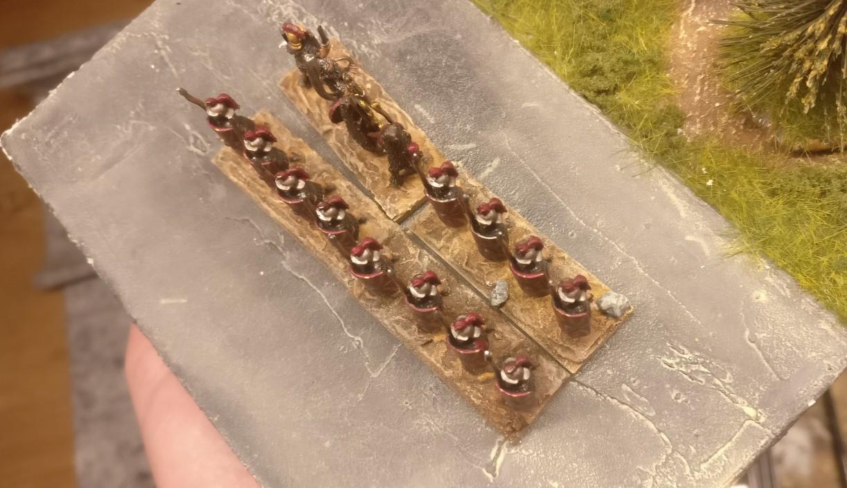 Blade Ordinary / Bd (O) für DBMM: römische Legionäre mit trockengebürsteter Base.