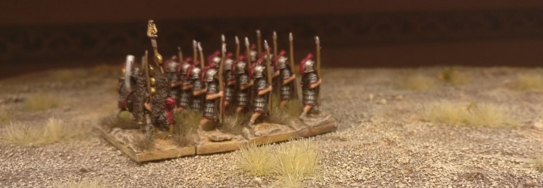 Blade Ordinary / Bd (O) für DBMM: römische Legionäre in den Wäldern von Mogontiacum beim ersten Manöver.