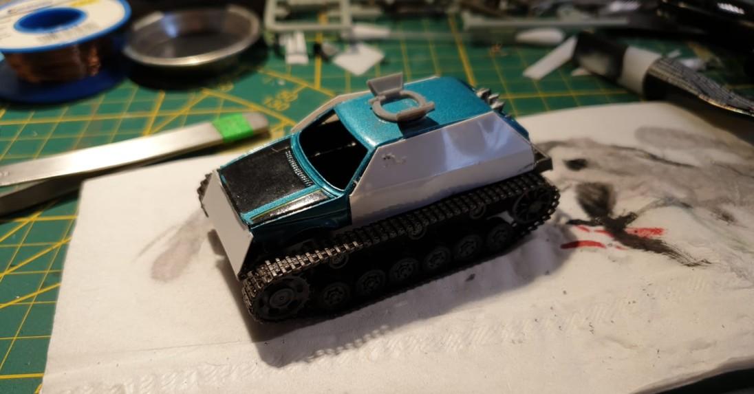 Die Panzer haben den Max auch bis ins Gaslands Game verfolgt. Erkennt ihr den Königstiger in diesem SUV?