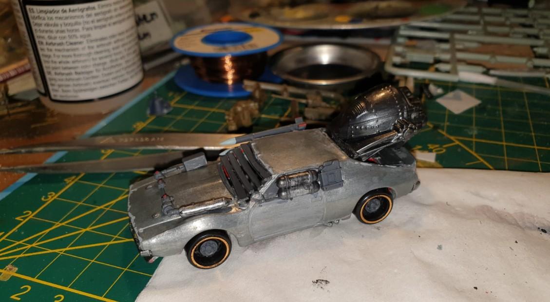 Dieses Gaslands Car ist noch mehr vom Steampunk beeinflusst. Am Ende wird Doncolor auch noch auf den Gaslands-Zug aufspringen?