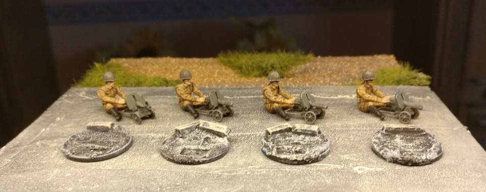 Die Basen für die sitzenden HMG-Schützen wurden separat vorbereitet.