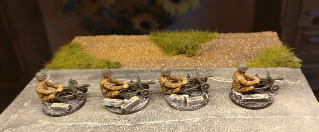 Die Schützen mit ihren Maxim-Maschinengewehren wurden einfach mit PONAL auf die Basen aufgeleimt.