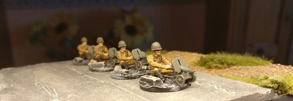 Die sitzenden Maxim-Maschinengewehr-Schützen aus der PSC-Box Russian Infantry Heavy Weapons sind einsatzklar.