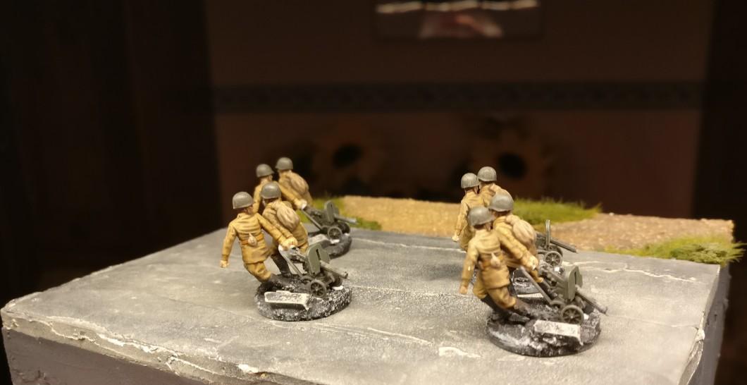 Die HMG-Schützen nach der Endmontage von hinten.