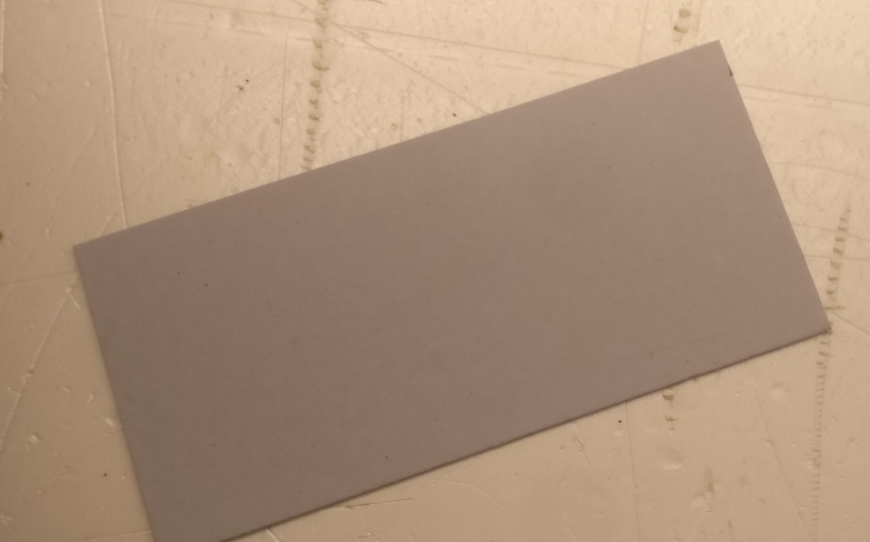 Die Pappe für untendrunter. Größe: 14cm x 30cm.