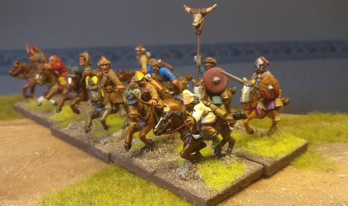 28mm Byzantiner Cavalry - sogar mit Bogenschützen - für DBA, DBMM, ARMATI