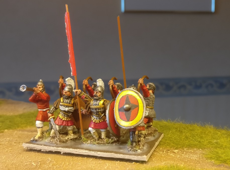 28mm Byzantiner Fußvolk für DBA, DBMM, ARMATI