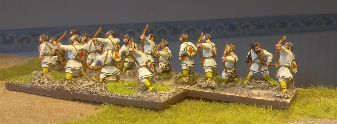 28mm Byzantiner Bogenschützen für DBA, DBMM, ARMATI
