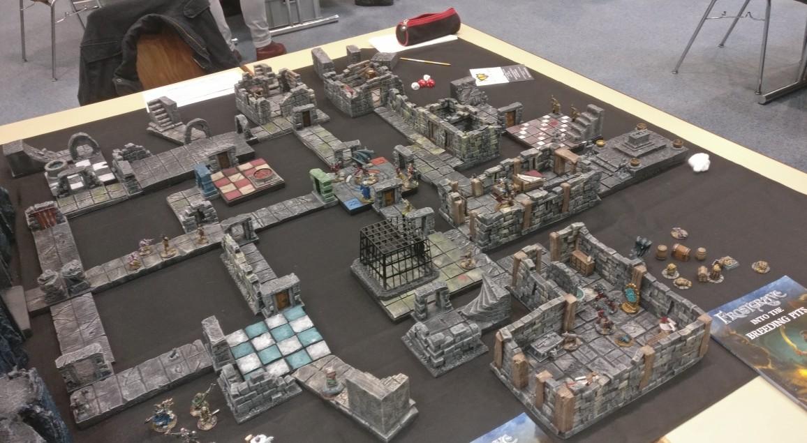 Das Dungeon Maze, die zweite Hälfte auf dem Frostgrave Spieltisch auf dem Ad Arma Con 2019