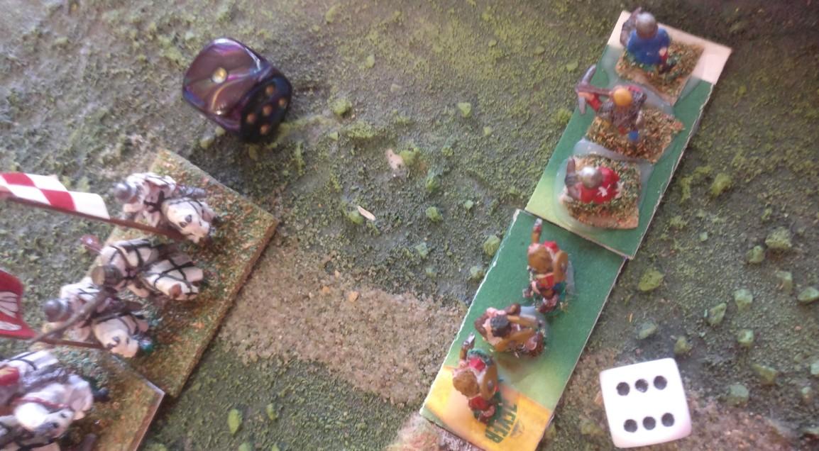 """Jetzt nehmen die schwedischen Fernkämpfer die Ritter des Deutschordens aufs Korn.  """"6:1"""" ist tödlich!"""