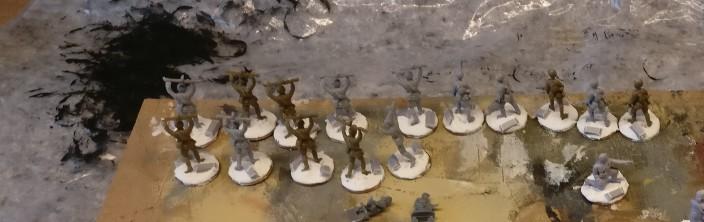Frisch gabased, die Herren aus dem Esci Set 203 Russian Soldiers