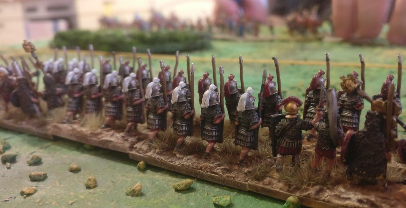 Na, sind das Prätorianer? Die commotischen Legionäre machen sich ganz gut auf dem Schlachtfeld.