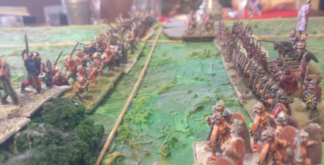 Im Zentrum bereiten sich die römischen Metzger aufs Schlachtfest vor.