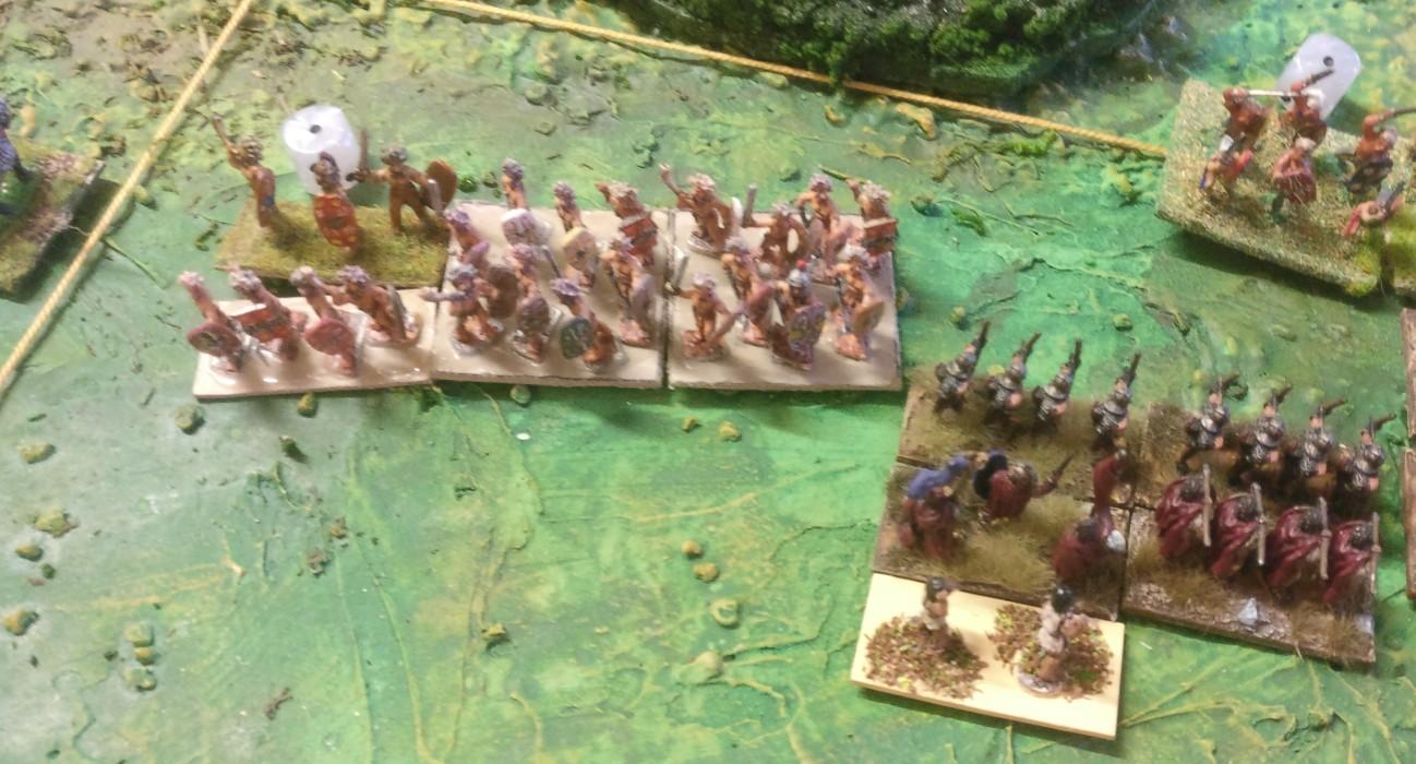 Die römischen Auxilia mussten den Galatern weichen.