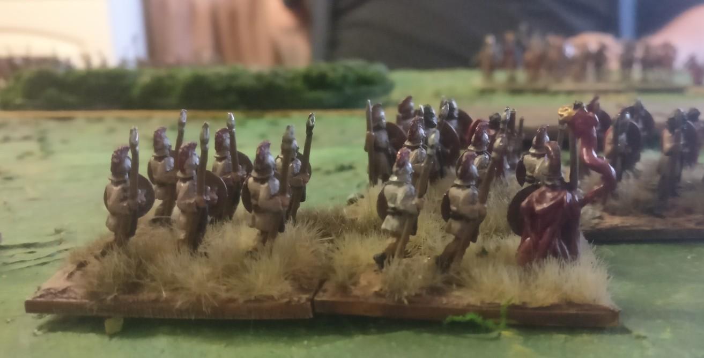 Die Auxilia. Dieses Mal war die Aufteilung auf Divisionen etwas glücklicher. Im Spiel erwiesen sich die Einheiten als besser manövrierbar.