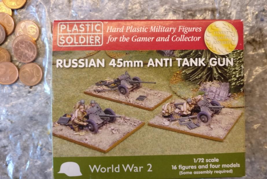"""""""Russian 45mm Anti Tank Gun"""" von PSC: wir machen mal ein Unboxing."""
