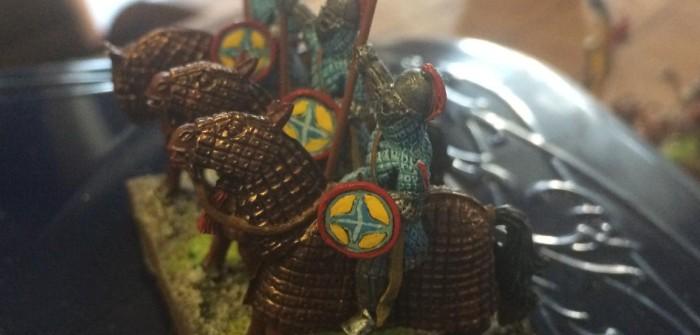 SAGA-Armee: Byzantiner und Perser kündigen sich an. Darf man eine DBA-Armee verfuggern? Diese Frage stellt sich uns nie. Im Gegenteil: man muss es sogar!