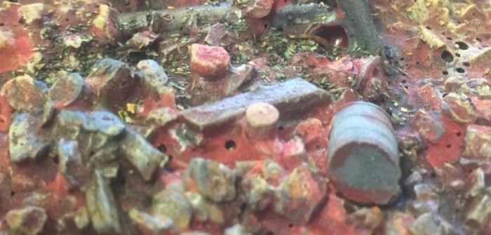 Stalingrad Ruinen: Farbfinish für XENAs Gebäude