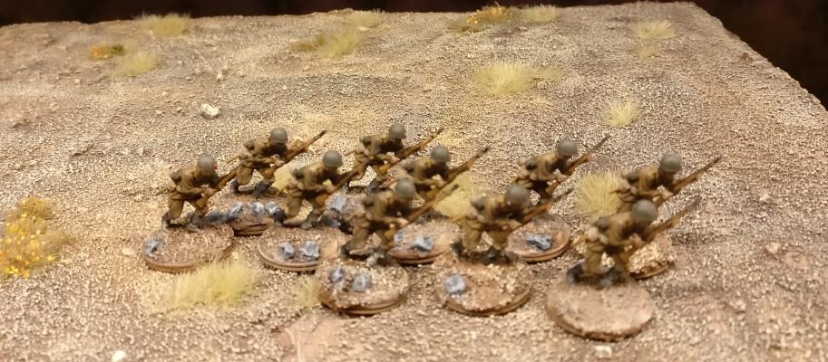 So kennt man die 30. Schützendivision... Die Steppenstürmer aus dem Esci Set 203 Russian Soldiers beim ersten Manöver.
