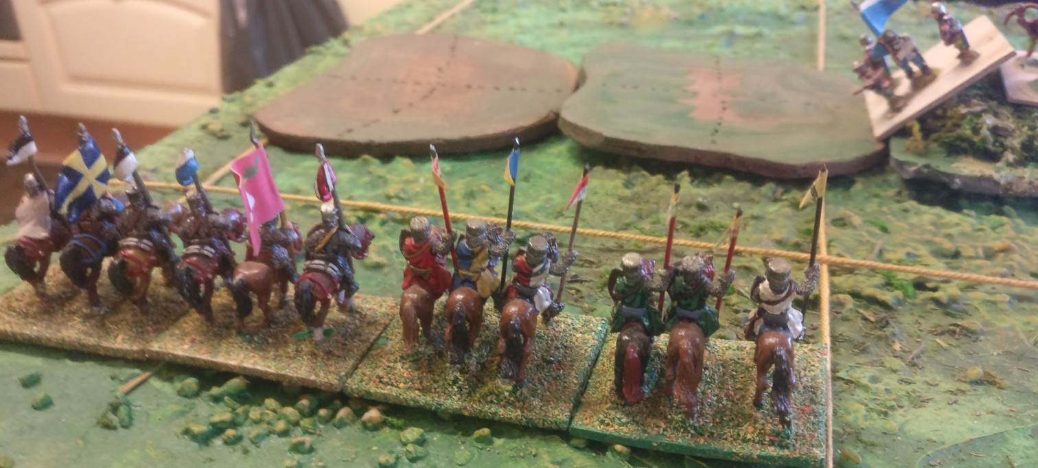 Auch die linke Flanke der Franzosen steht fein da.