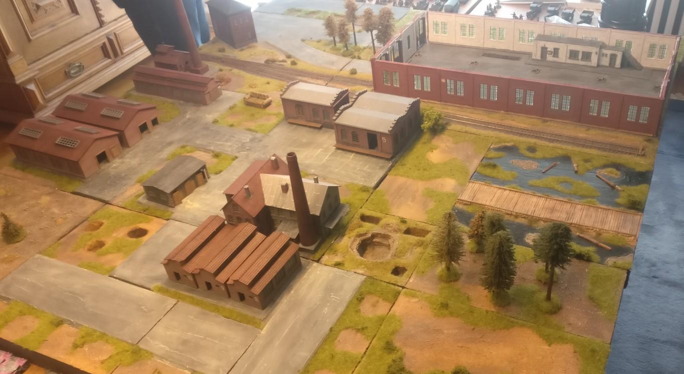 """Die Maschinenfabrik """"Roter Oktober"""" in Shturmigrad gab die Kulisse für das Battlegroup-Spiel."""