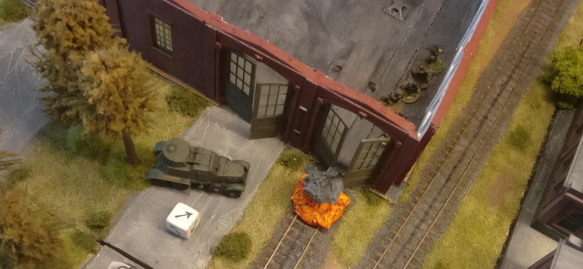 Der arme BA-1 bekam den Segen ab. Immerhin verloren die Granatwerfer so einen Spotter.