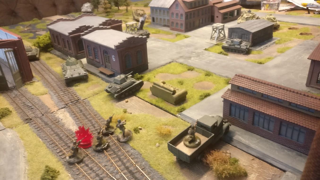 Die Rotarmisten sind gepinnt. Die T-70 von Cpt.Armstrong beherrschen das Spielfeld.