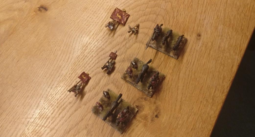 Die Befehlshaber-Basen sind bereit, mit Reitern ausgestattet zu werden.