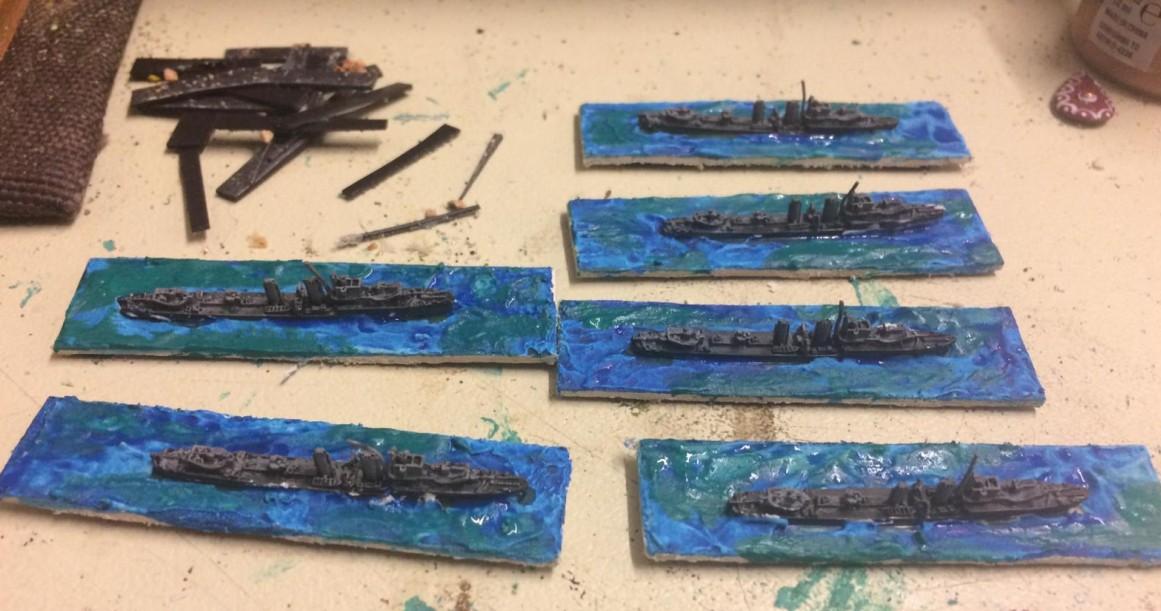 Schwerer Seegang bei Monnems Flotte für Broadside