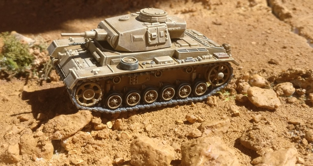Dominics Panzer III ließen sich auch durch Felsgeröll nicht aufhalten.