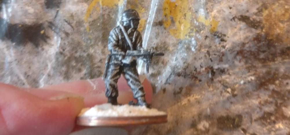 """Eine der alten Figuren aus dem Matchbox Set """"US Infantry"""""""