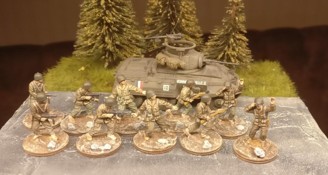Das Resultat des Tests. Die vordere Reihe wurde mit Nato-Oliv behandelt, die hintere mit Gelboliv. Welche ist besser?