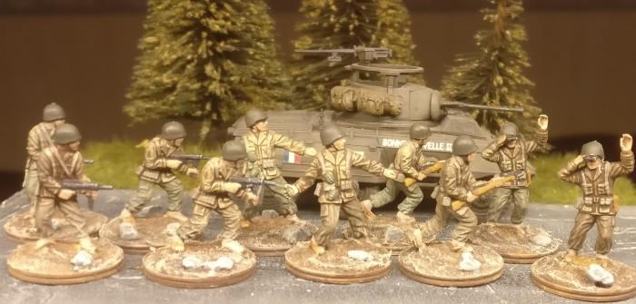 Zwo 5er-Trupps US-Infantry